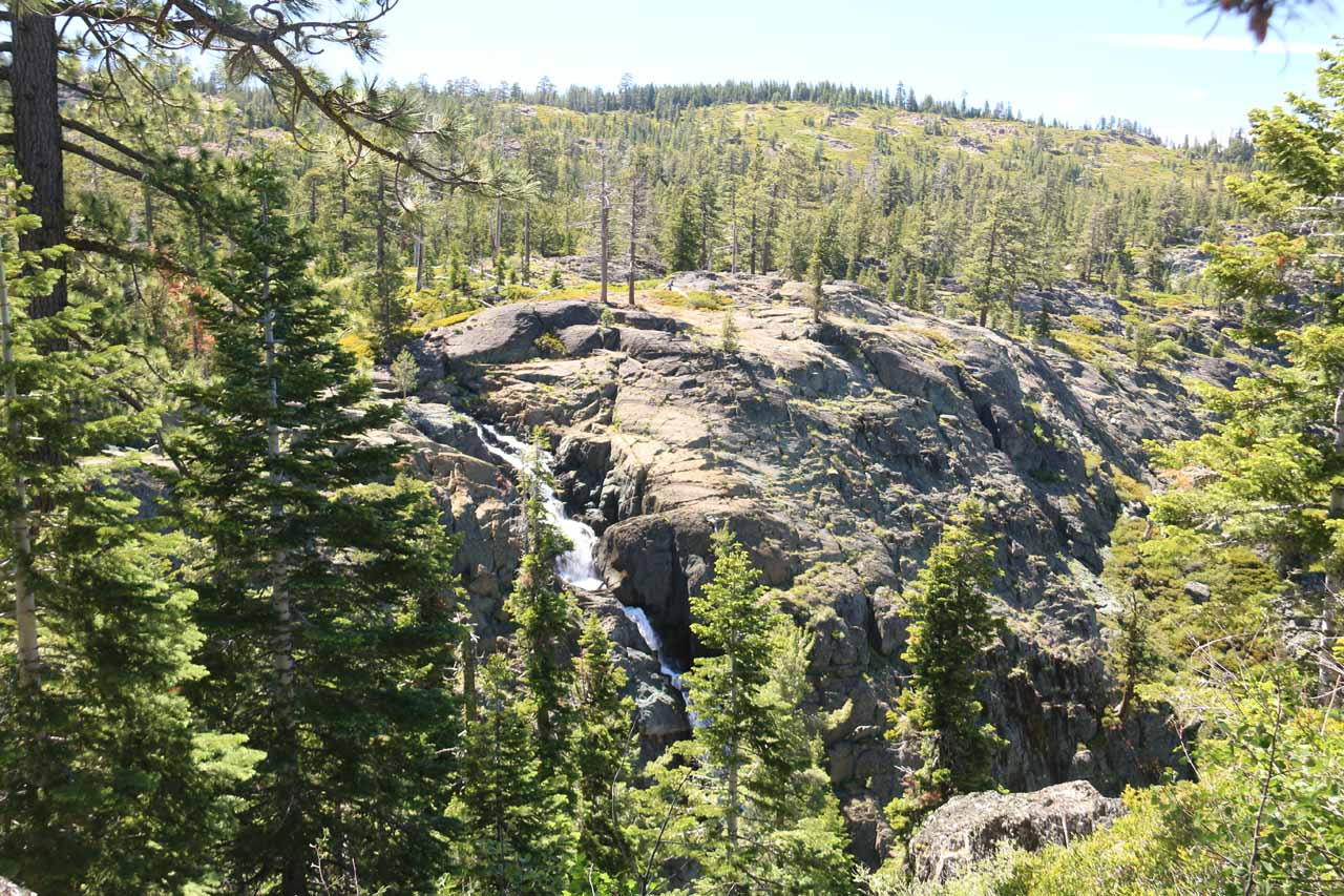 This partial view of Frazier Falls indicated to us its sloping and cascading nature