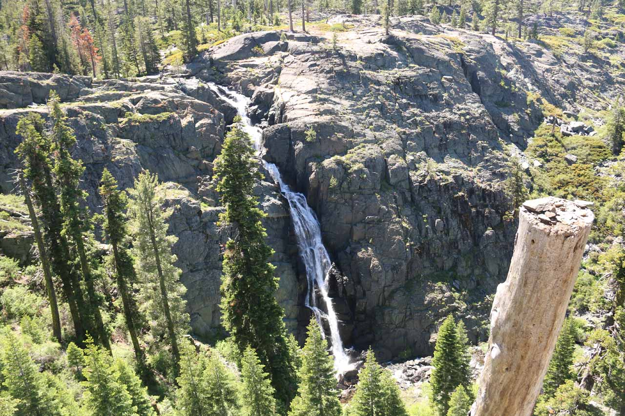 Our first look at the impressive Frazier Falls from the overlook area