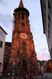 Freiburg_014_06202018 - Soft sunset lighting shining on the dom in the innenstadt in Freiburg
