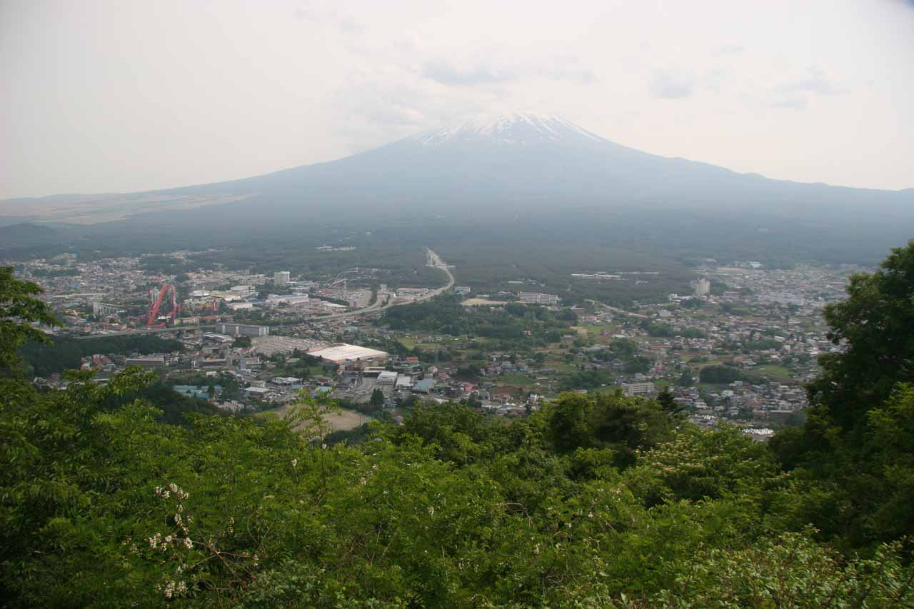 This was Mt Fuji from an overlook above Kawaguchiko - the base of our Fuji part of the trip that encompassed the out-and-back journey to Shiraito-no-taki and Otodome-no-taki