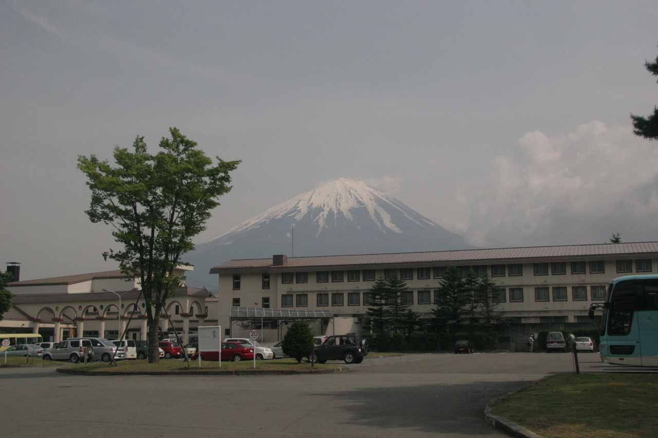 A clear Mt Fuji