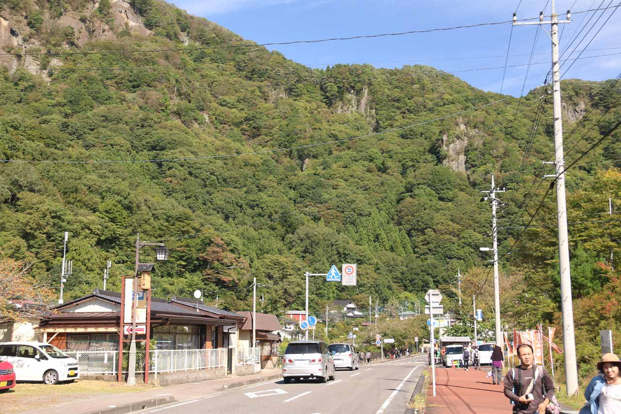 We pretty much walked in the easterly direction facing these mountains after being dropped off at the Takimoto Bus Stop
