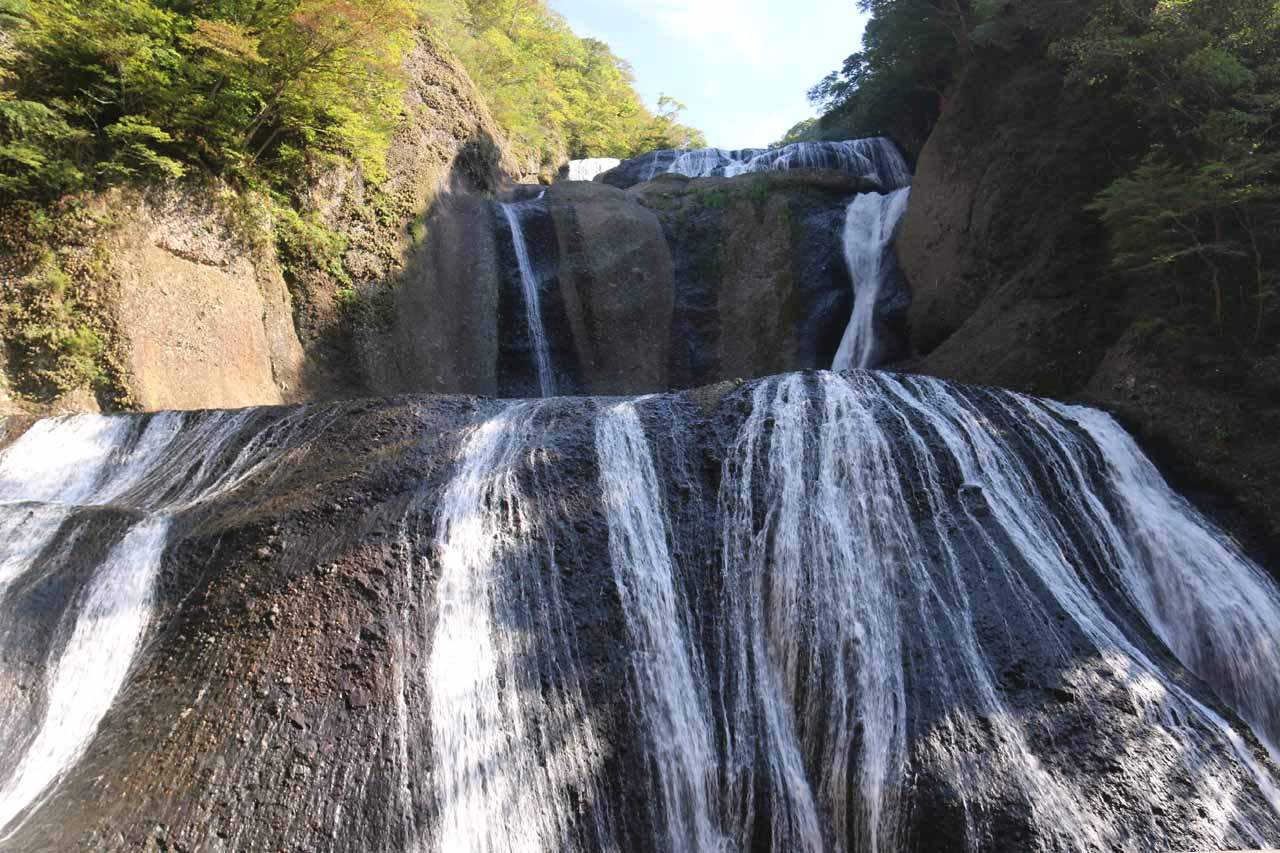 From the lower viewing deck, this was the in-your-face view of the Fukuroda Falls