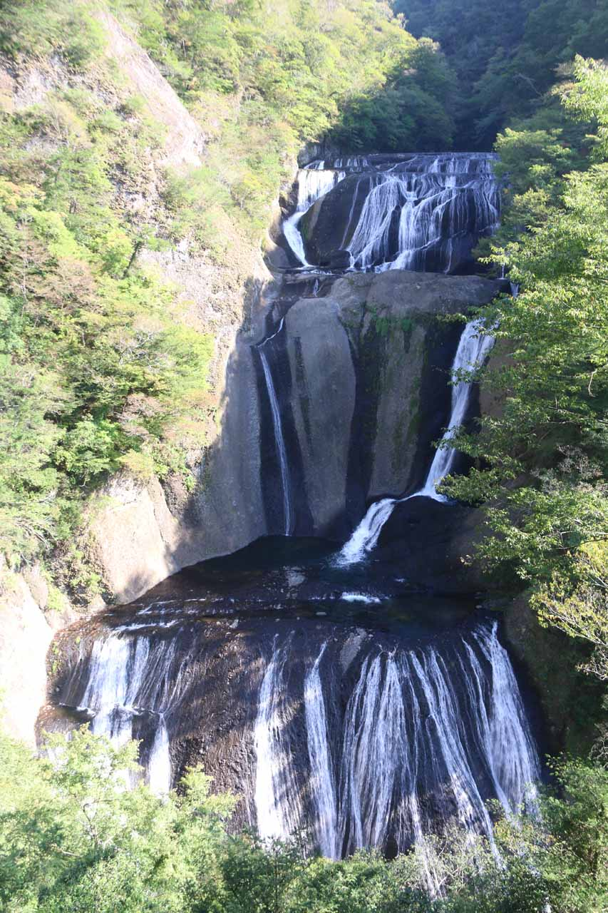 This was the view from the uppermost viewing deck of the Fukuroda Falls