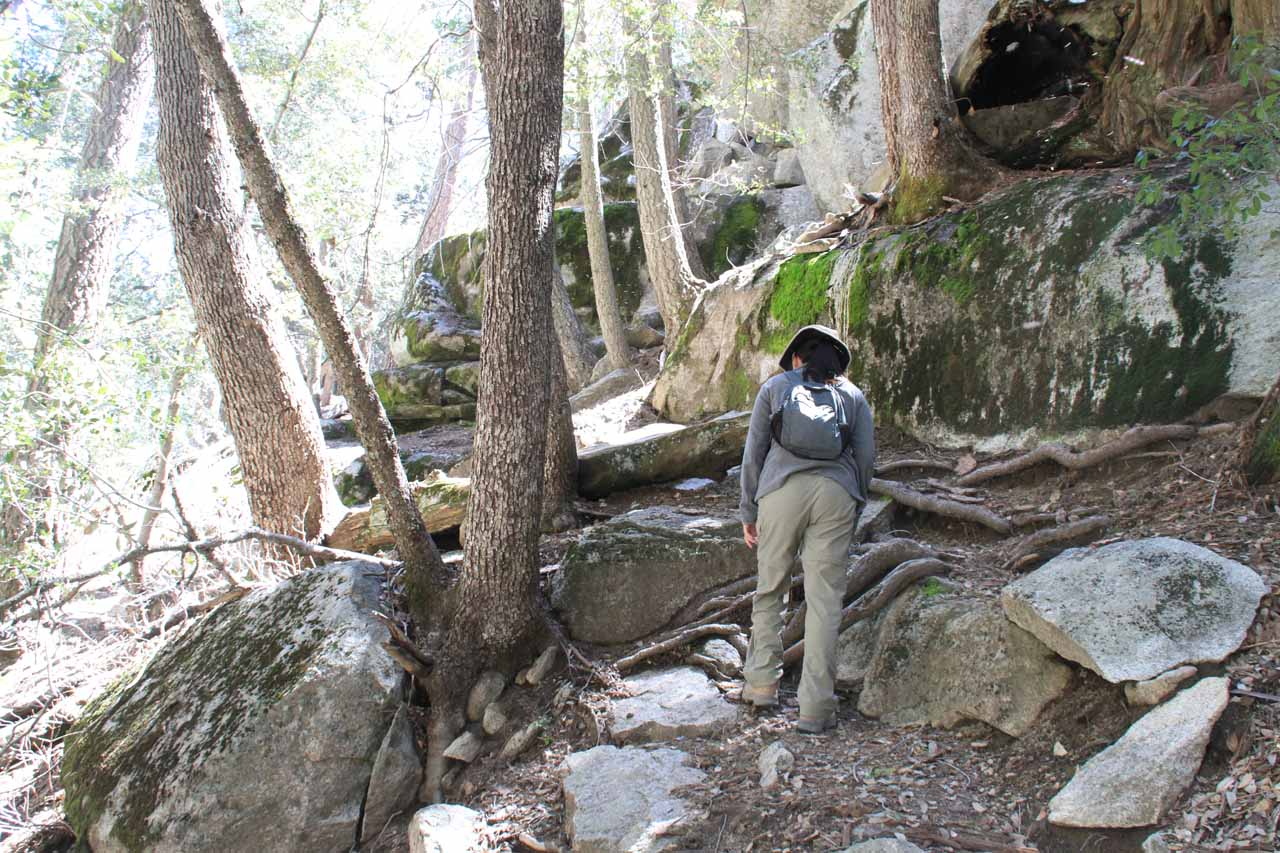 We suspected that something was off when the scrambling kept getting steeper and roughter