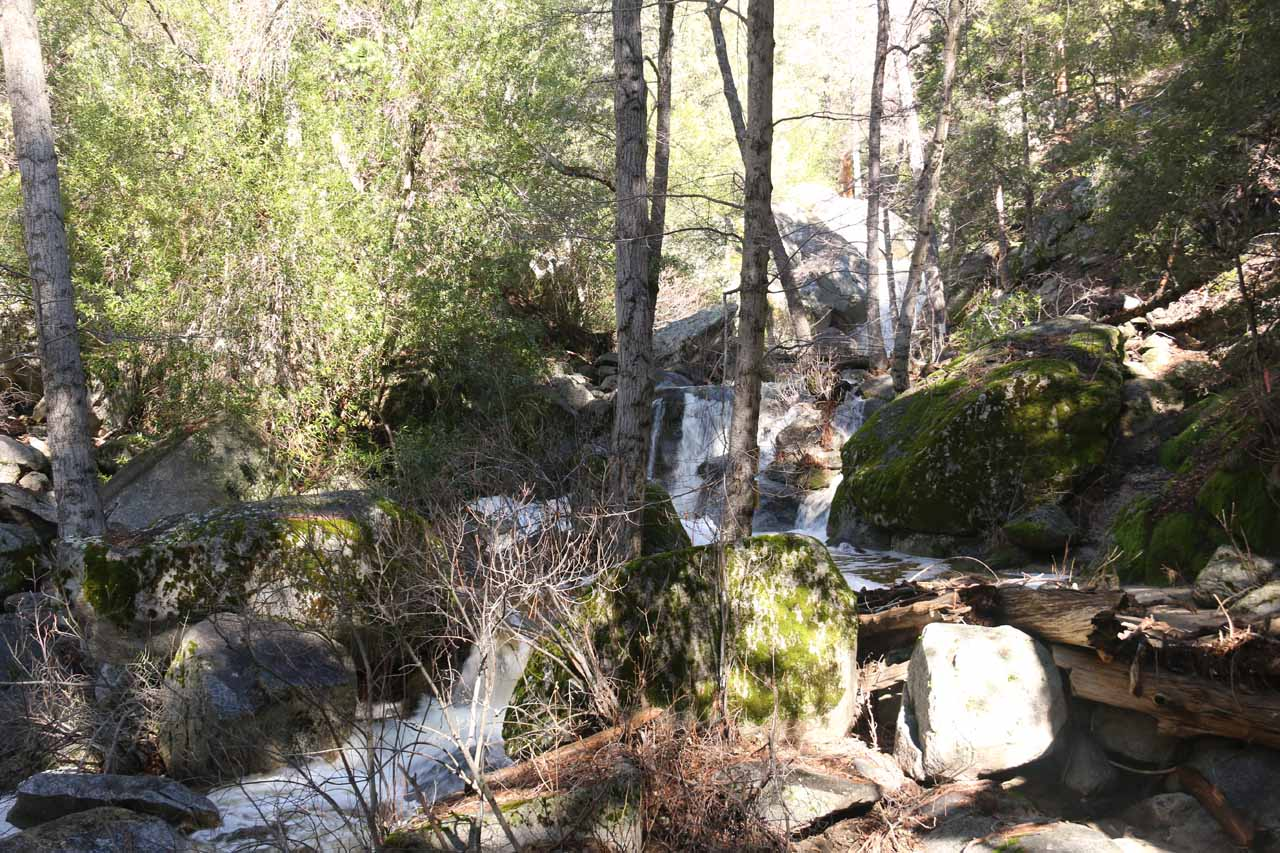 My first glimpse at the legitimate Fuller Mill Creek Falls