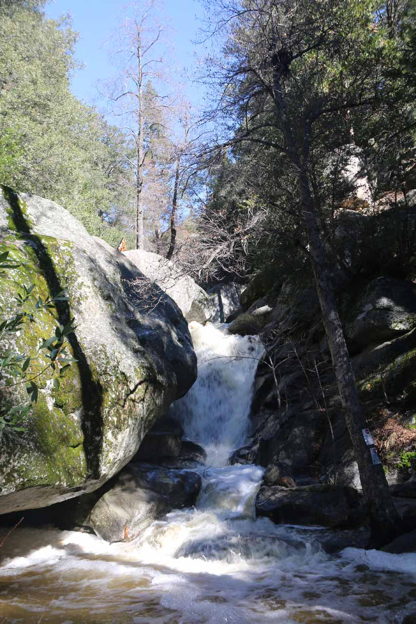 Direct look at the main part of Fuller Mill Creek Falls