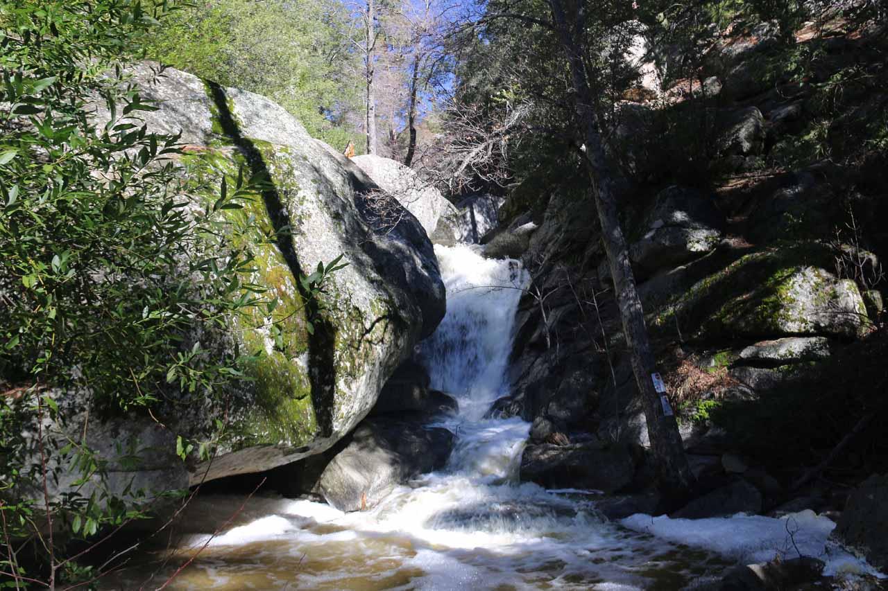 Direct view of the main Fuller Mill Creek Falls