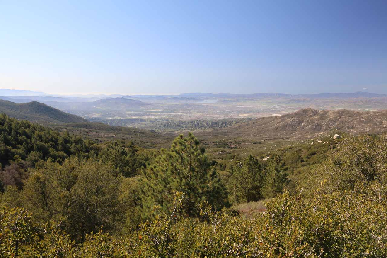 Looking towards the Riverside County basin