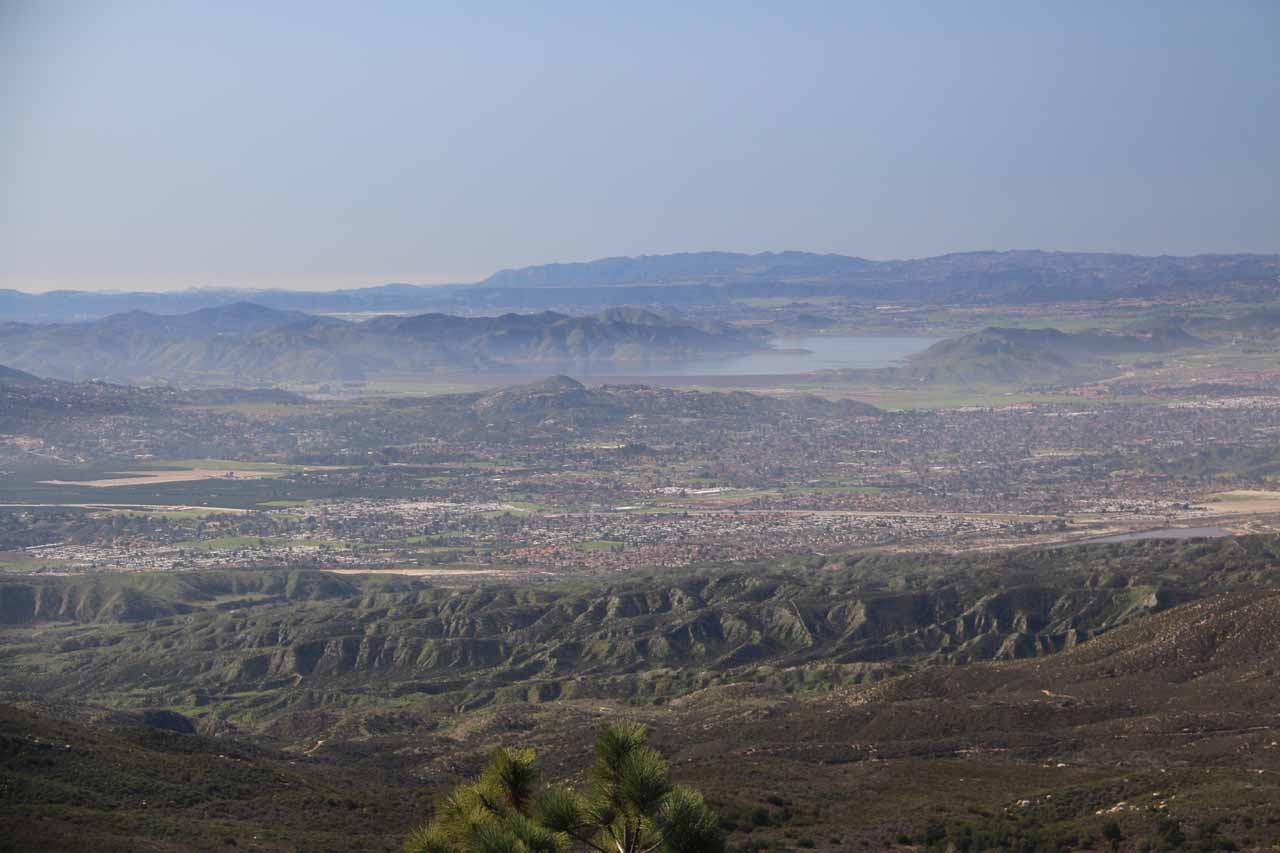 On the drive up the 243 towards Fuller Mill Creek and Idyllwild, we managed to get this panoramic view towards Riverside on a day without the smoggy haze