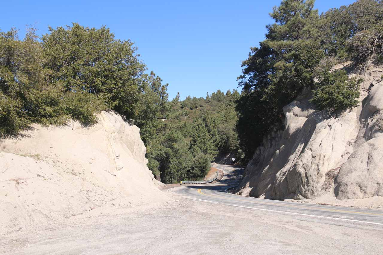 The Hwy 243 en route to both Fuller Mill Creek and Idyllwild