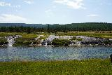 GPS_Overlook_139_08062020 - Looking directly across the Firehole River at the thermal runoff that's arguably a legitimate waterfall in its own right