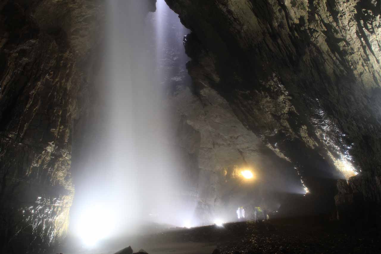 The cavers' favoured spot of photographing Gaping Gill