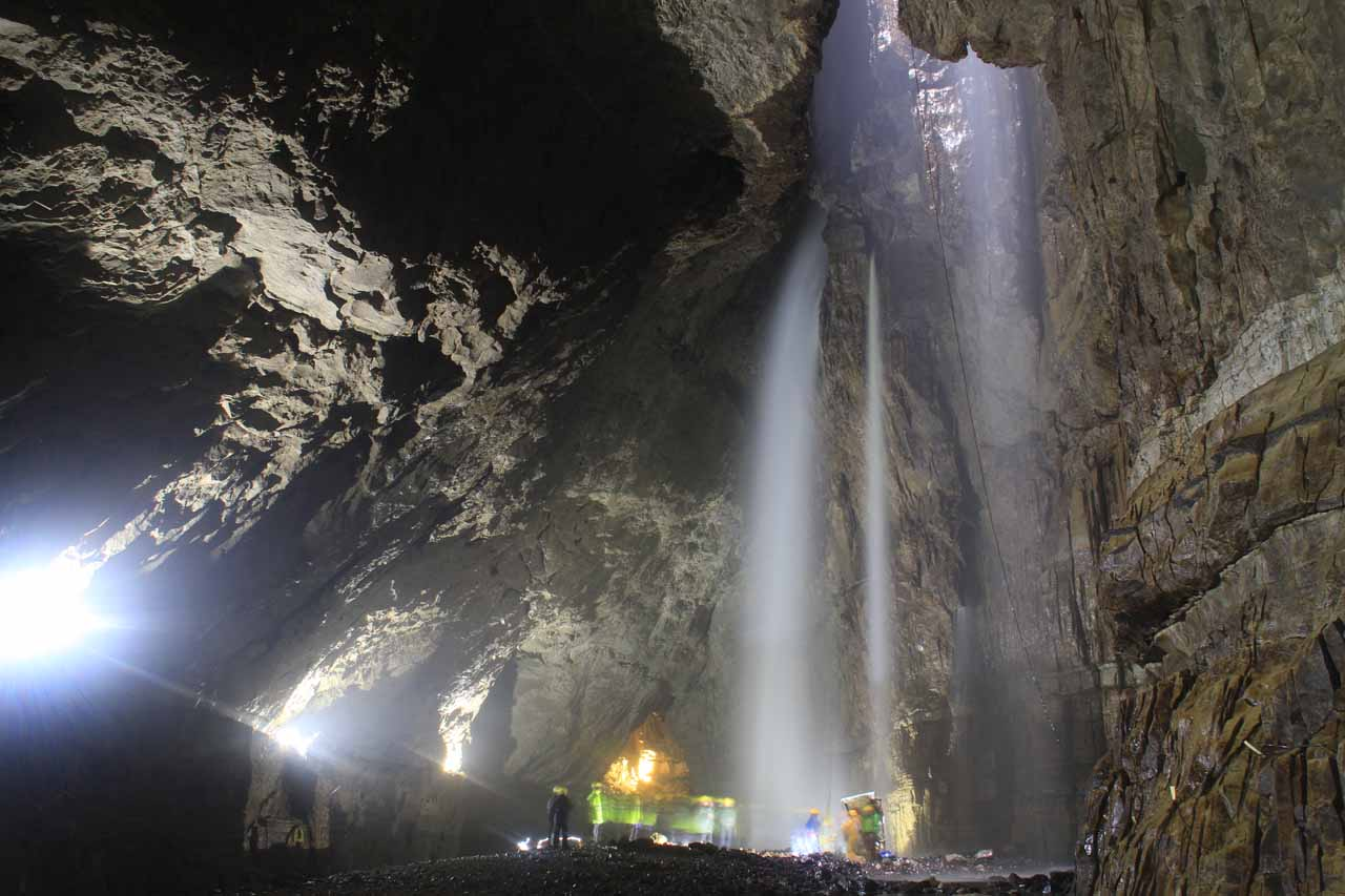 Contextual view of the Gaping Gill Waterfalls