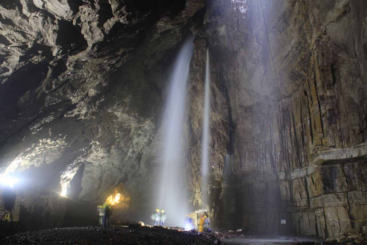 Context of the Gaping Gill Waterfalls and the cavern itself