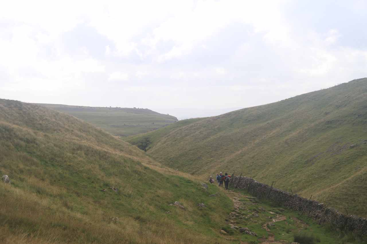 Continuing the descent below the moors