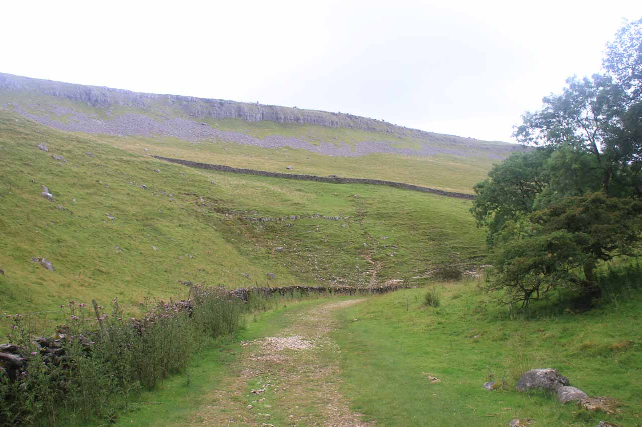 Back below the moors and through the sheep pastures