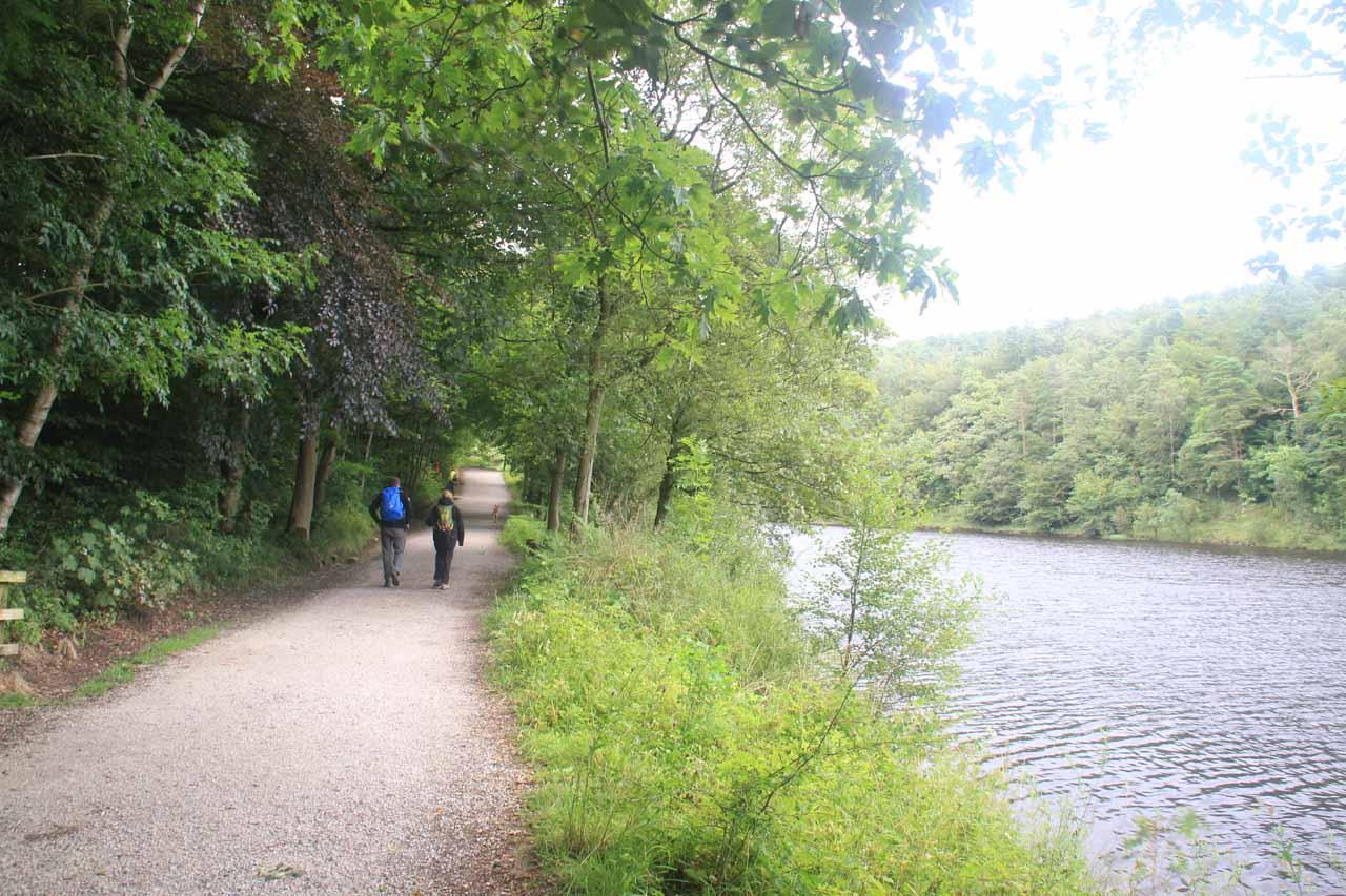 Back at the man-made lake flanking the Ingleborough Estate Trail