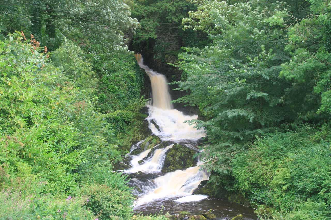 The man-made Clapham Falls
