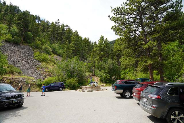 Garden_Creek_Falls_001_07292020 - The parking area at the end of the S Rotary Park Rd