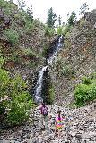 Garden_Creek_Falls_081_07292020 - Julie and Tahia finally arriving at the Garden Creek Falls