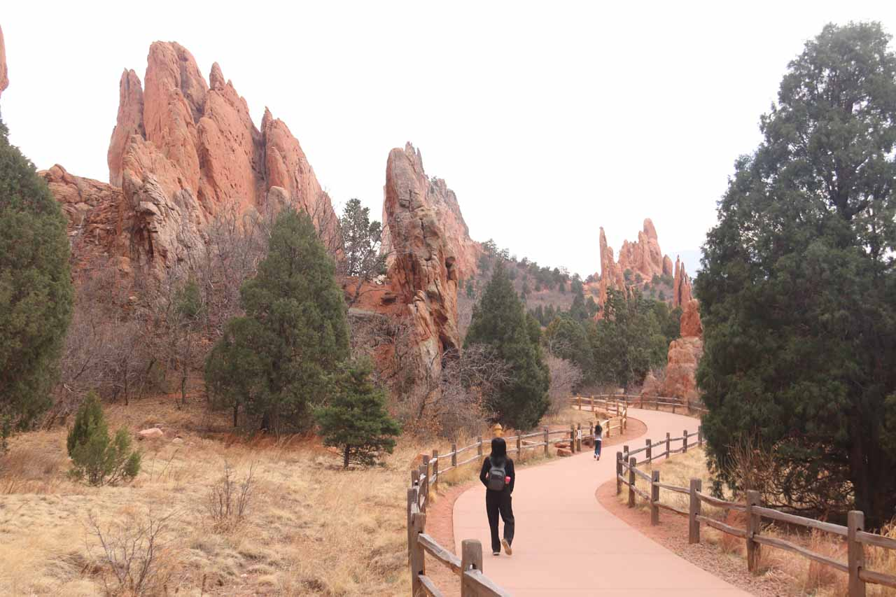 In addition to Seven Falls, perhaps the biggest natural highlight of the Colorado Springs area was the Garden of the Gods with its majestic cliffs and spires, especially at the Central Garden area