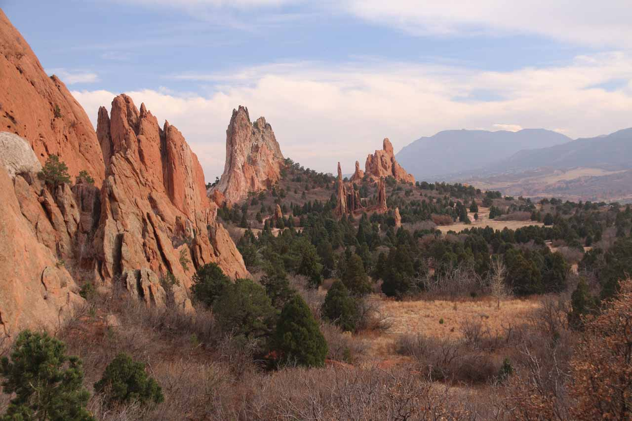 With Helen Hunt Falls being so close to downtown Colorado Springs, we were also able to spend time at the beautiful Garden of the Gods with its majestic cliffs and spires