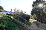 Garland_Ranch_013_02072021 - Steps leading back up to the roadside parking along Carmel Valley Road. This gave us the idea that we could choose to go up on the way back to better maintain social distance on the trail to the right when we come back here at the end of our walk