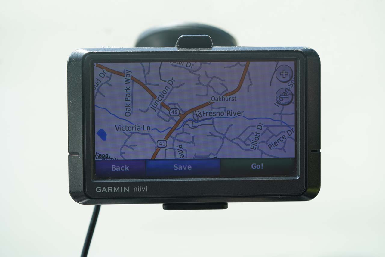 Our trusty GPS Navigation Device or Unit that we still use on our waterfall-related travels