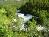 Gaular_001_06292005 - Some rapids and cascades gushing on the Gaula River somewhere upstream of Eikjelandsfossen (Vikafossen?)