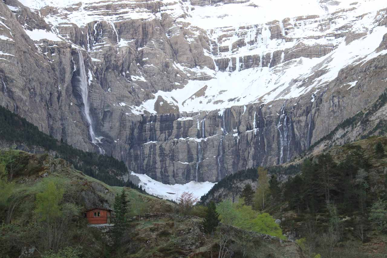 Looking ahead at the Cirque du Gavarnie when the weather finally improved the following morning