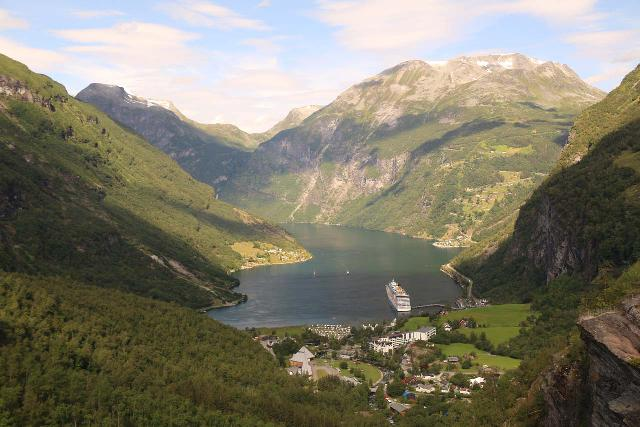 This view of Geirangerfjord from the lookout at Flydalsjuvet was one of the fjord's signature post card views