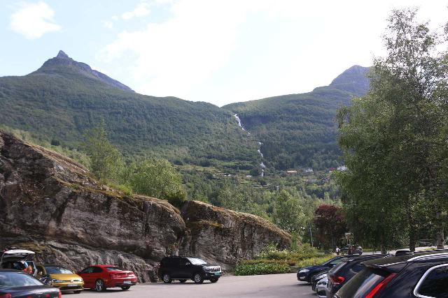 Geiranger_168_07182019 - The parking for guests at the Hotel Union, where it fills up fast come late morning or early afternoon