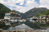 Geiranger_276_07182019 - Looking towards the head of the Geirangerfjord from the town of Geiranger as I was walking back up to Hotel Union