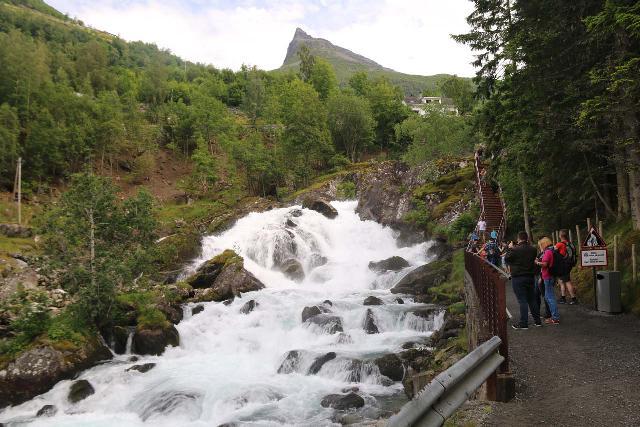 Geiranger_303_07182019 - The new Waterfall Trail alongside the Geirangerfossen