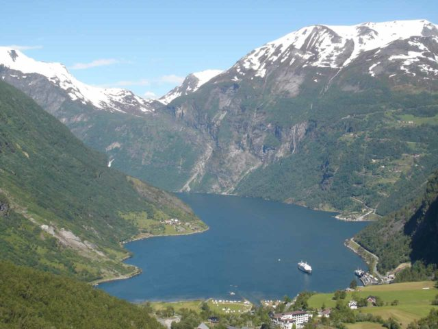 Geirangerfjorden_002_jx_07012005 - This was the view of Geirangerfjorden from the lookout Flydalsjuvet as we descended down towards the town of Geiranger along the Road 63