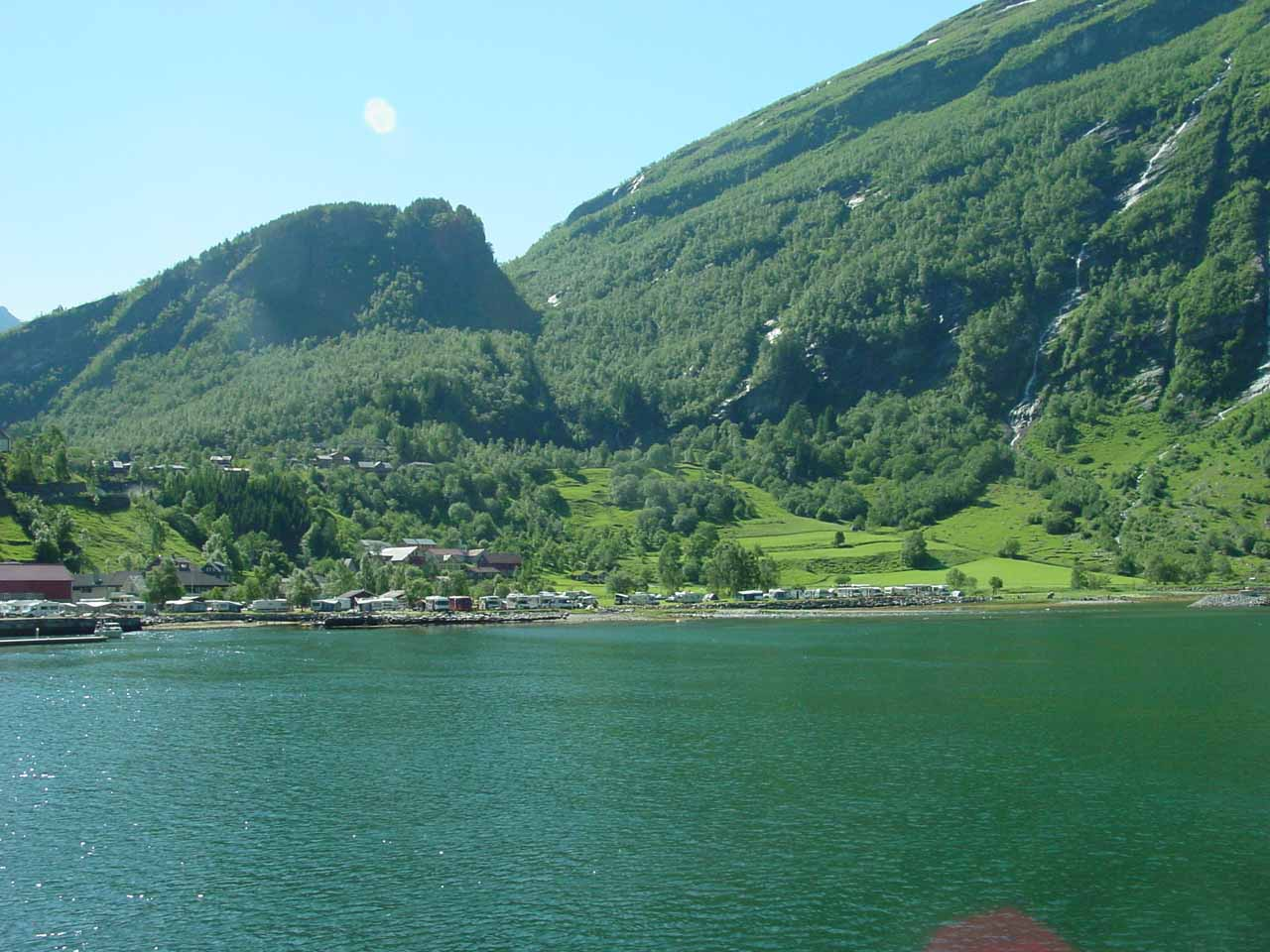 Looking towards the southern side of the fjord just as we left Geiranger on the cruise