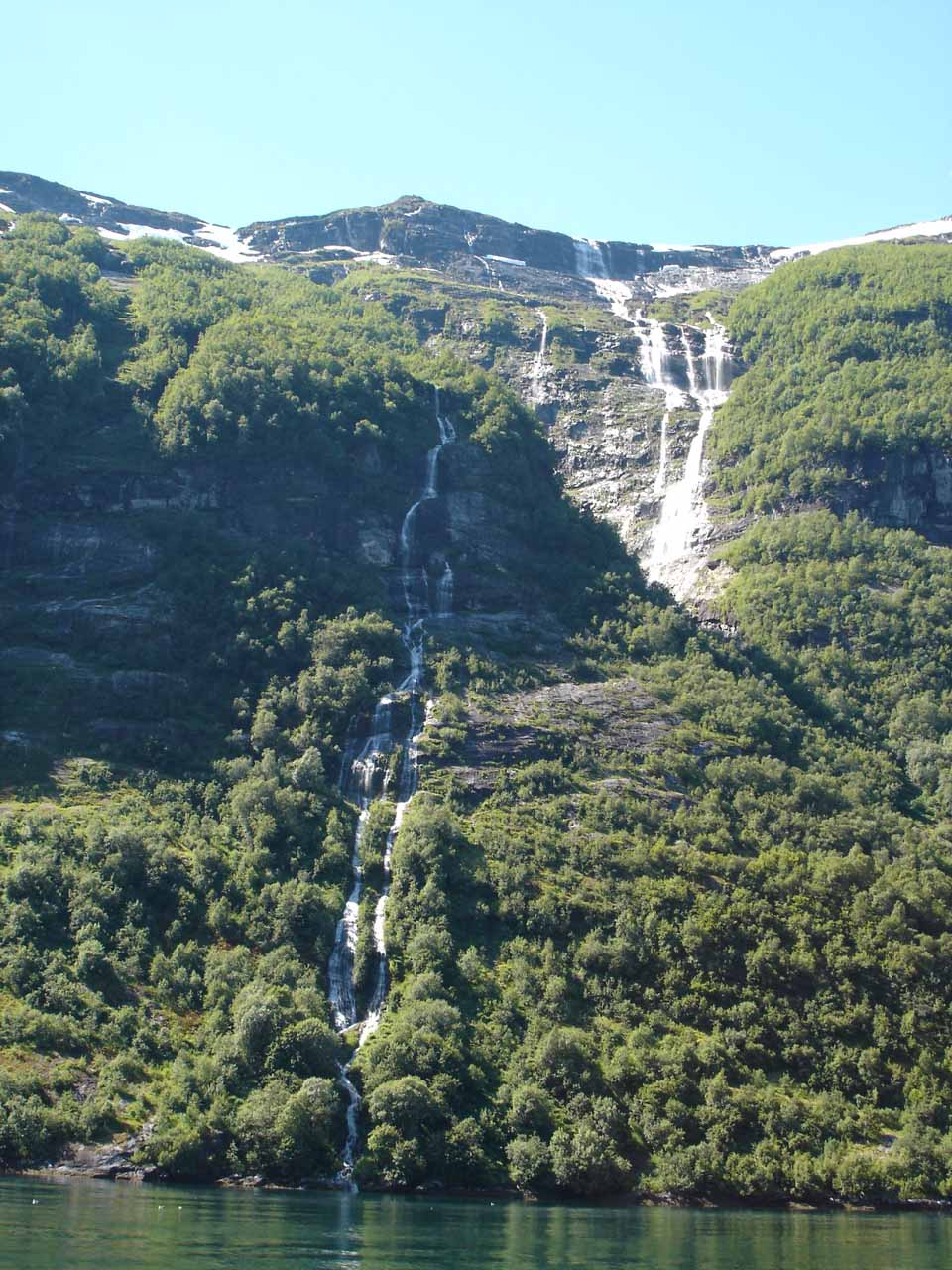 Looking back towards some attractive ephemeral waterfalls