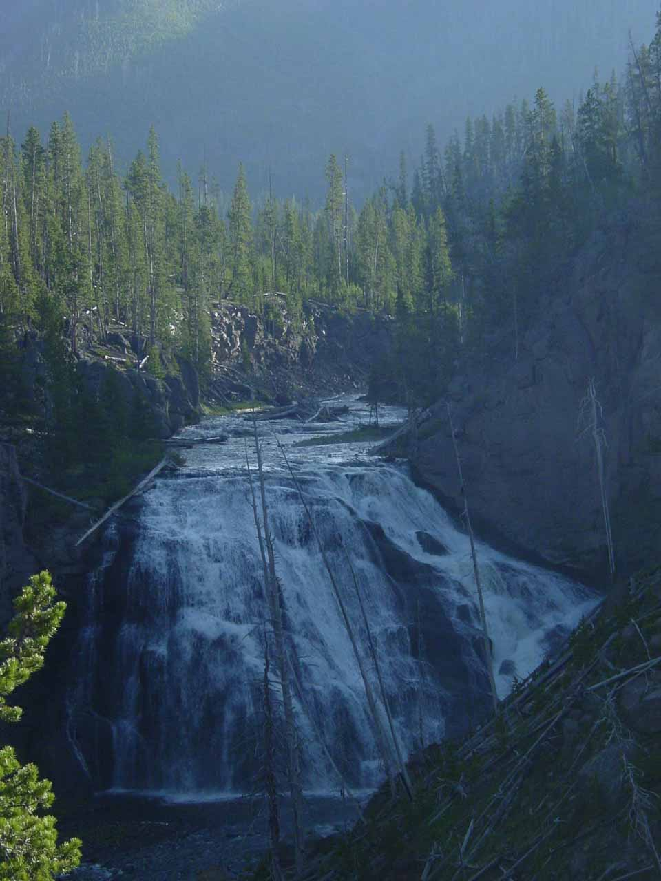 Closer look at Gibbon Falls from that alternate viewing spot