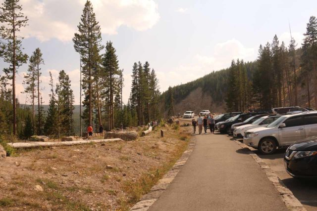 Gibbon_Falls_17_001_08102017 - The new parking lot and paved walkway at Gibbon Falls, which we got to experience during our August 2017 visit