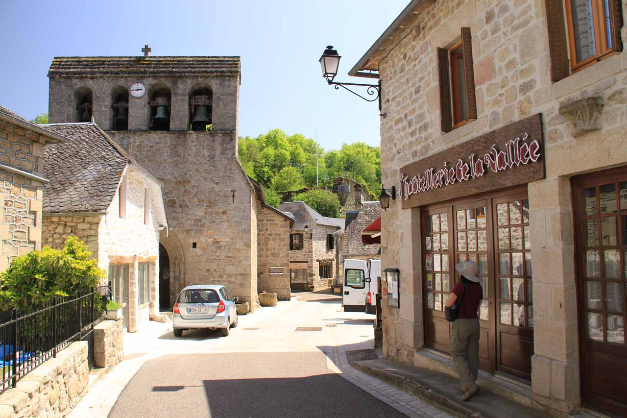 Going through the charming part of Gimel-Les-Cascades the town as we made our way down to the waterfalls