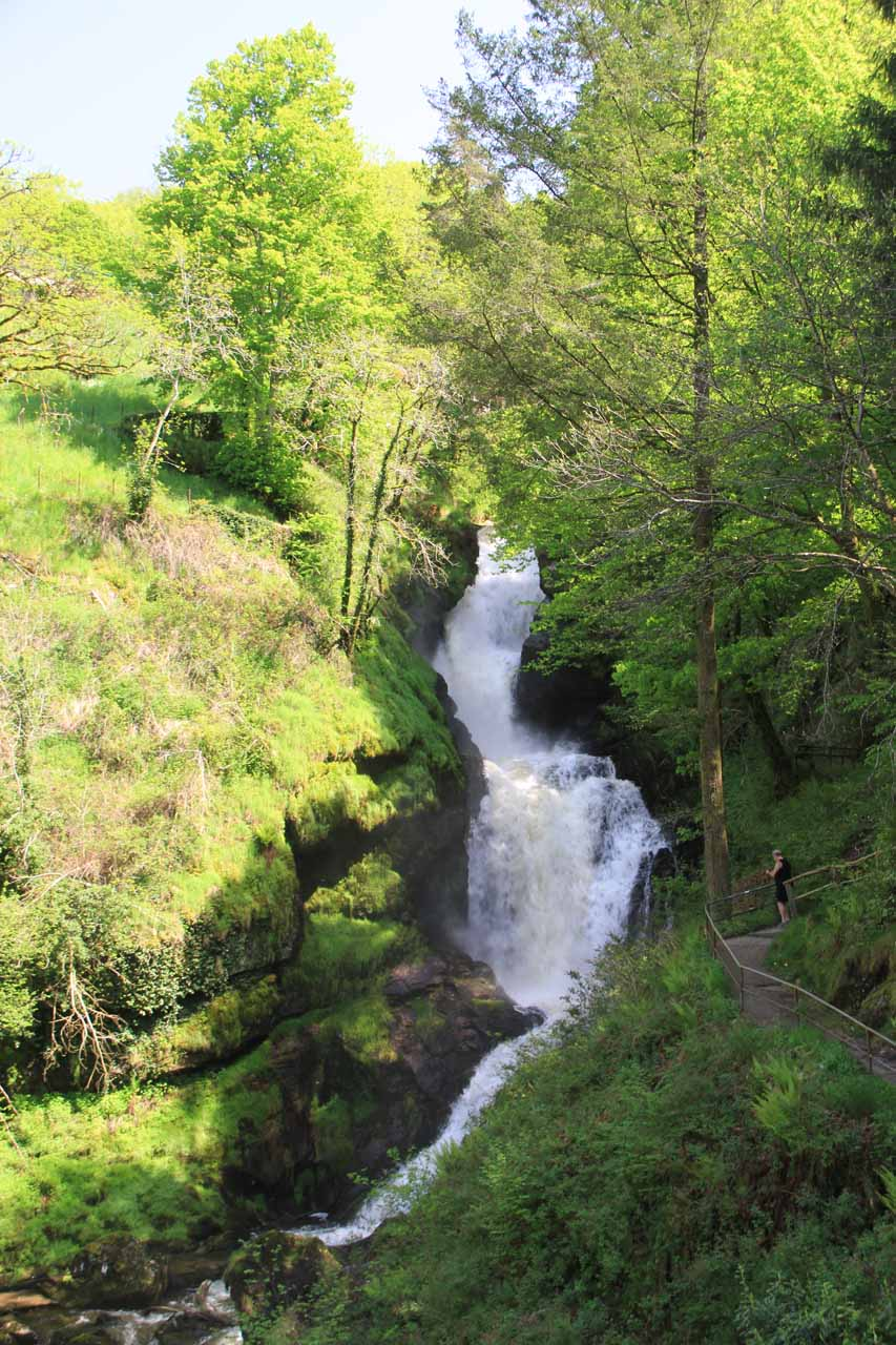 The loud Grand Saut, which was the uppermost cascade of Gimel Les Cascades