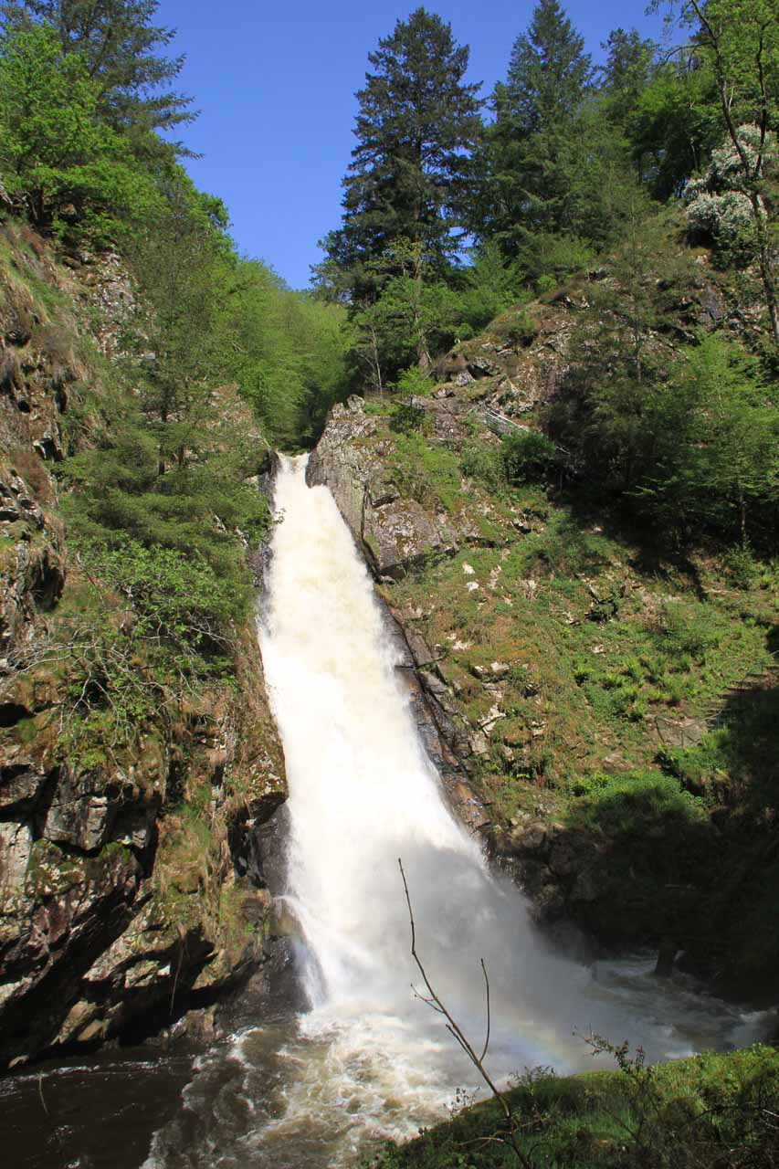 One of the waterfalls making up Gimel-Les-Cascades