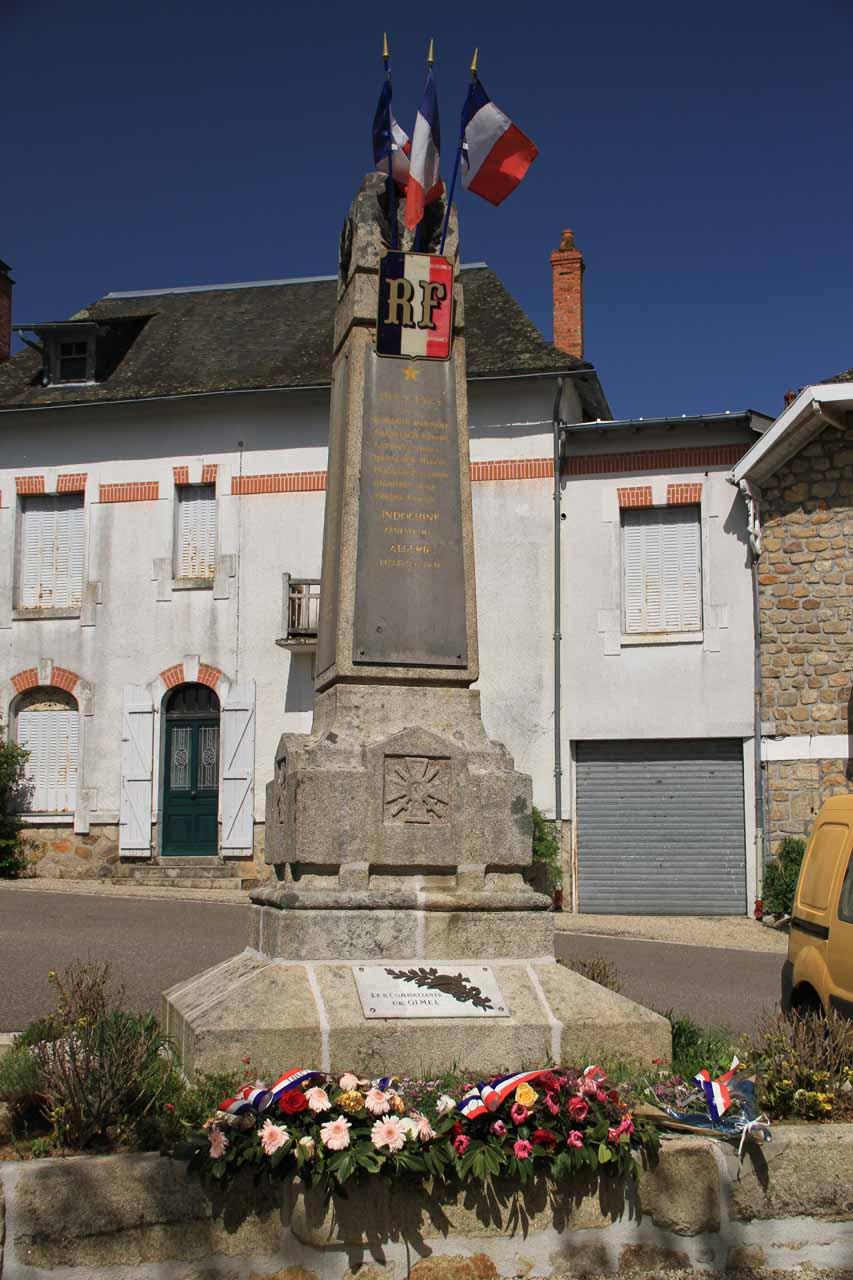 War memorial by the nearest car park