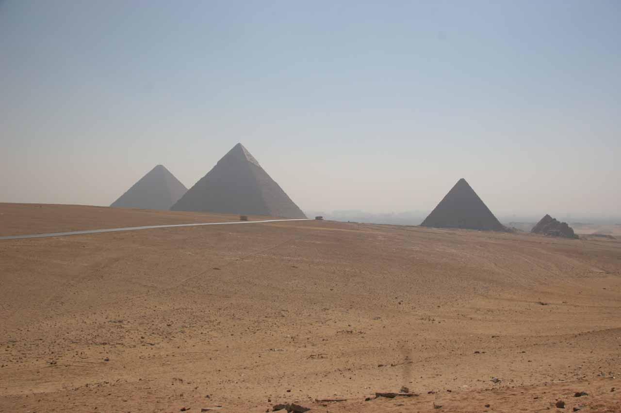 Panorama of the three main pyramids