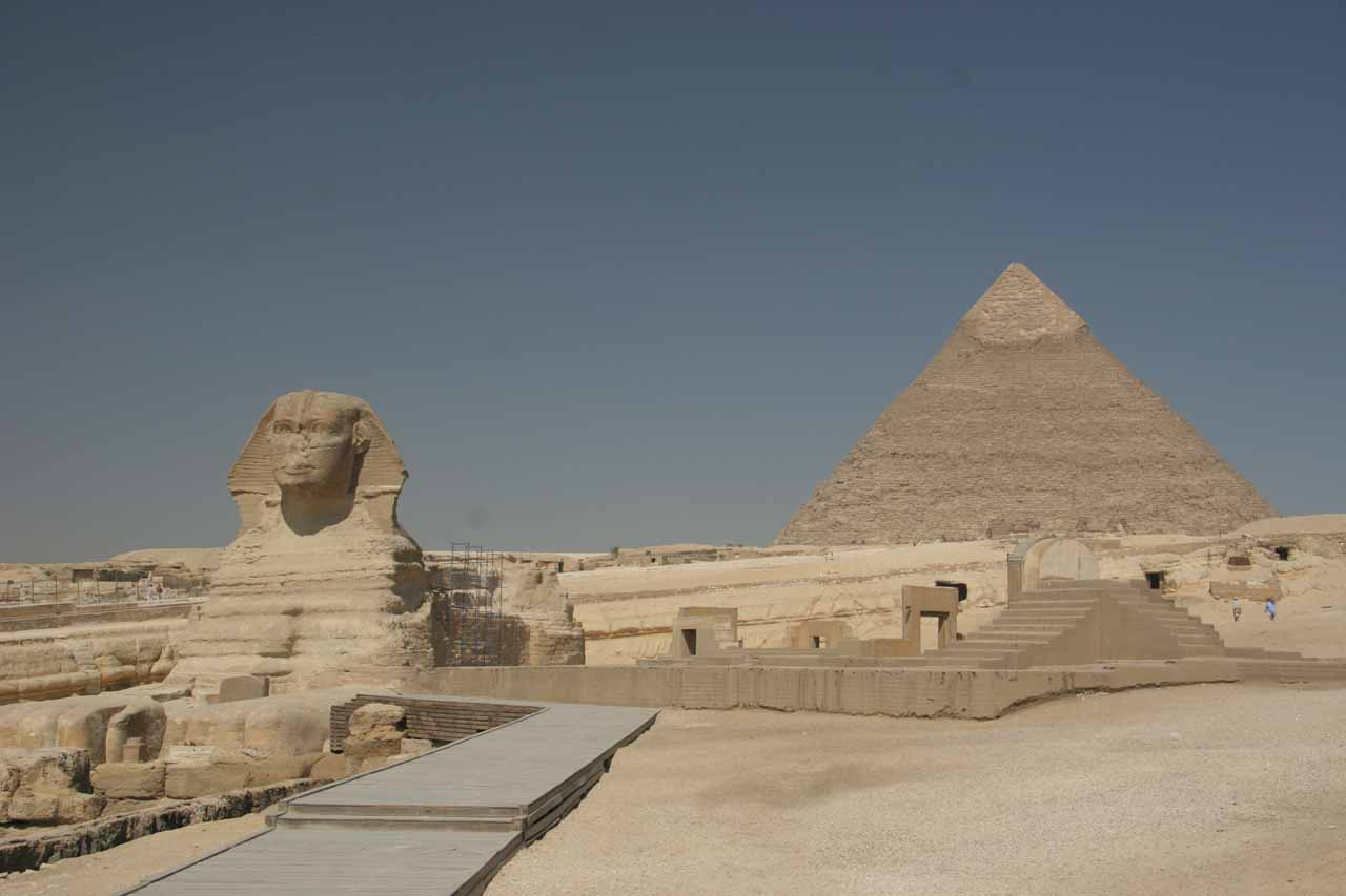 The iconic Sphinx and Great Pyramid