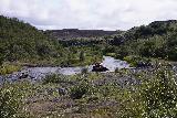 Gjain_001_08202021 - Looking at an ATV cross the Rauda Stream near the Stong and Gjain Trailhead
