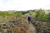 Gjain_057_08202021 - Mom on the trail leading back towards Gjain from Stong