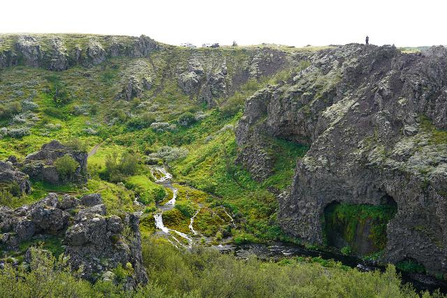 Gjain_071_08202021 - Looking across the Rauðá from the north side towards the 4wd car park side with hidden cascades down below