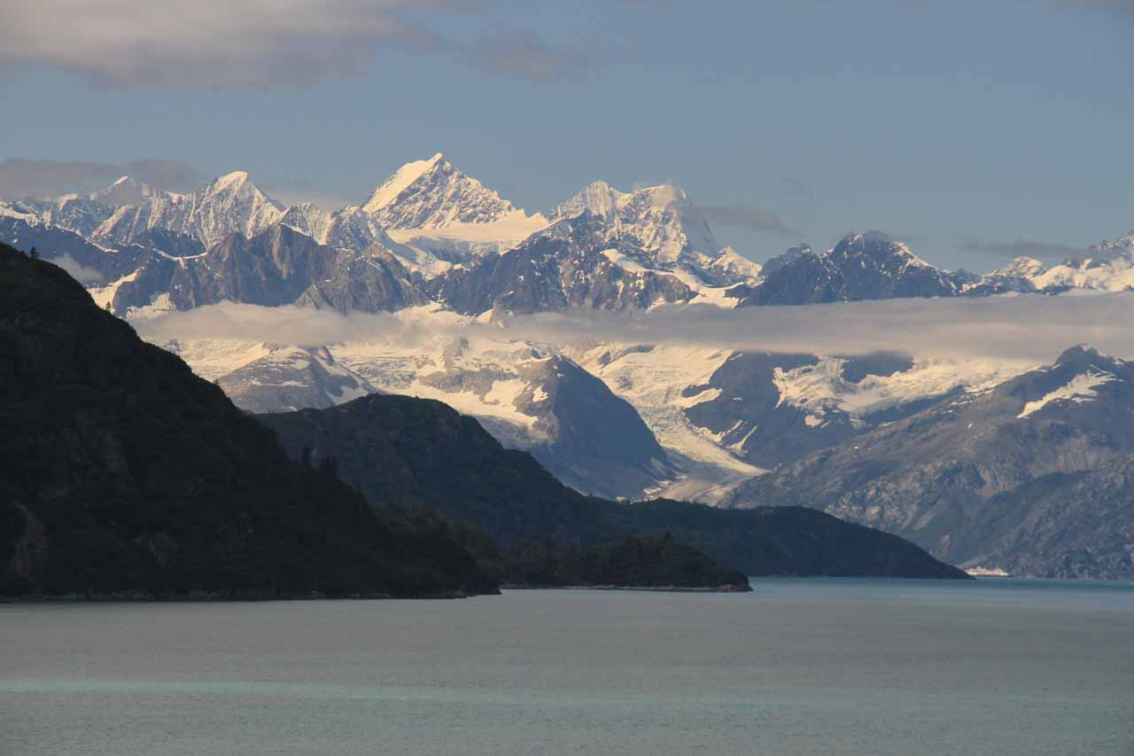 About to enter Glacier Bay just as the weather started to clear up